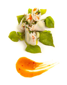 Saddle Peak Lodge Lobster Spring Rolls