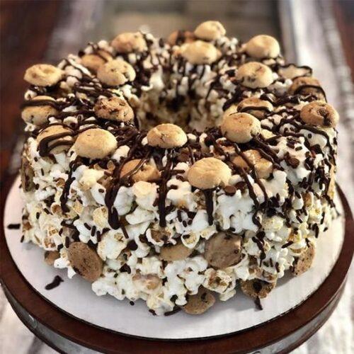 Chocolate Chip Gourmet Popcorn Cake