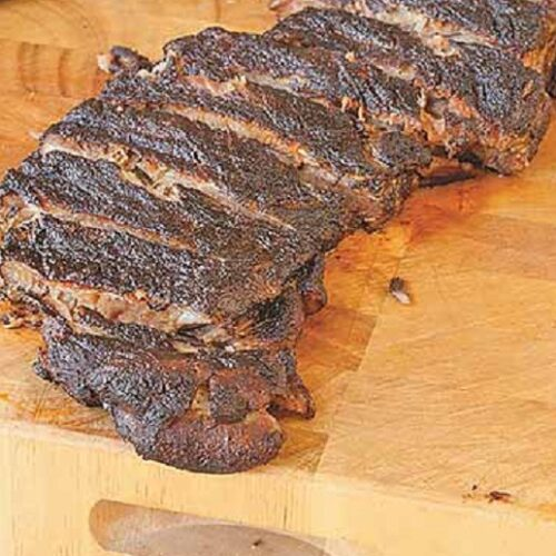 Coffee and Cocoa Rubbed Ribs
