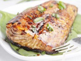 Balsamic and Raisin Glazed Salmon