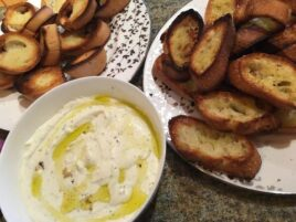 ricotta and olive oil spread